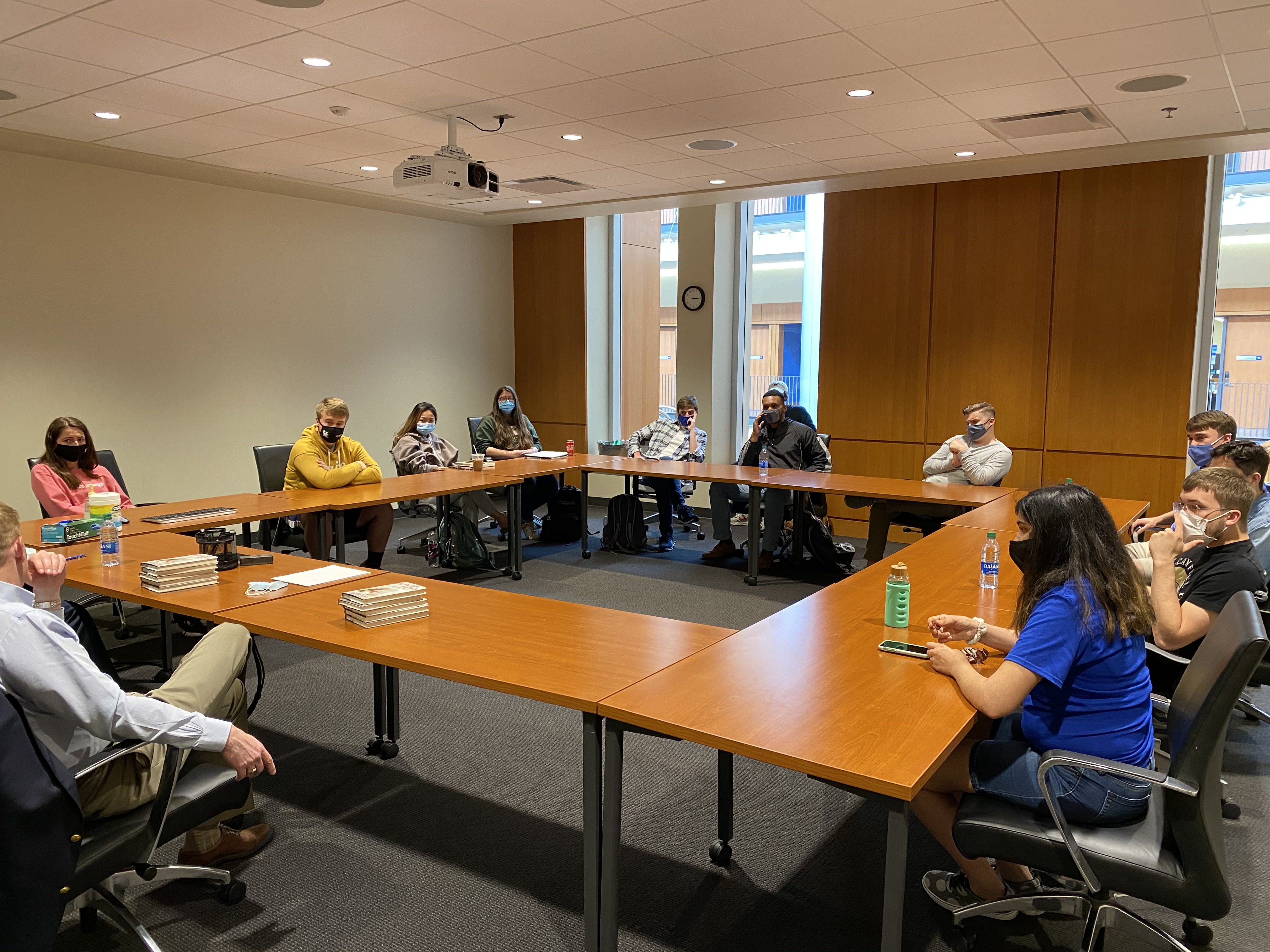 Guest speakers, Bob Lawson and Ben Powell met with ISFE's Junto Reading Group
